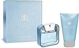 Düfte, Parfümerie und Kosmetik Trussardi Blue Land - Set (edt/50ml + sh/gel/100ml)