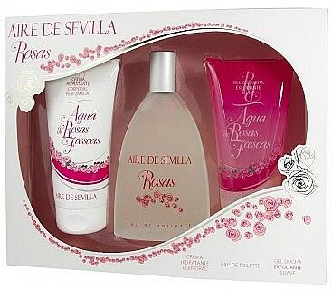 Instituto Espanol Aire de Sevilla Rosas - Duftset (Eau de Toilette 150ml + Körpercreme 150ml + Duschgel 150ml) — Bild N1