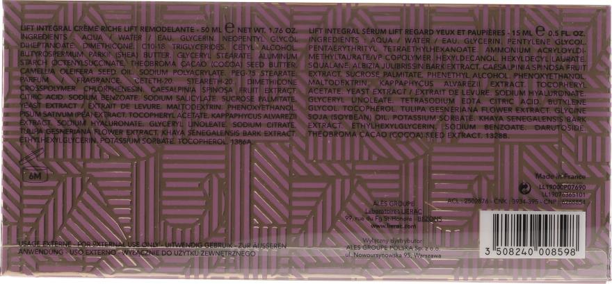 Gesichtspflegeset - Lierac Lift Integral Set (Gesichtscreme 50ml + Augencreme 15ml) — Bild N6