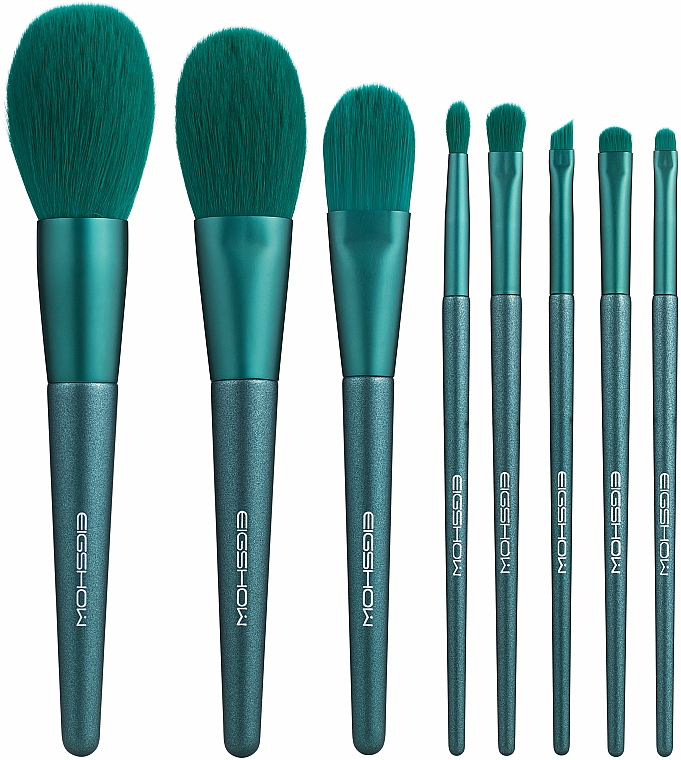 Make-up Pinselset - Eigshow Beauty Jade Green Brush Kit With Cylinder — Bild N2