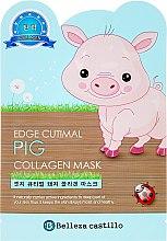 Düfte, Parfümerie und Kosmetik Anti-Falten Kollagen-Gesichtsmaske Schweinchen - Belleza Castillo Edge Cutimal Pig Anti-Wrinkle Mask