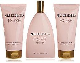 Düfte, Parfümerie und Kosmetik Instituto Espanol Aire de Sevilla Rose - Duftset (Eau de Toilette 150ml + Körpermilch 150ml + Duschcreme 150ml)