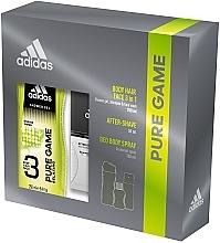 Düfte, Parfümerie und Kosmetik Adidas Pure Game - Duftset (After Shave Lotion 50ml + Deospray 150ml + Duschgel 250ml)