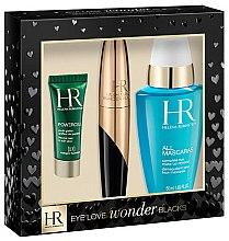 Düfte, Parfümerie und Kosmetik Makeup Set - Helena Rubinstein Eye Love Wonder Blacks Set (Wimperntusche 7ml Augenserum 3ml + Augenmake-up Entferner 50ml)