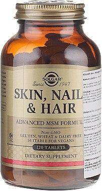 Nahrungsergänzungsmittel-Komplex für Gesicht, Haar und Nägel - Solgar Solgar Skin Nails And Hair Formula — Bild N1