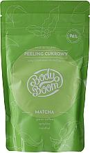 Düfte, Parfümerie und Kosmetik Anti-Cellulite Zuckerpeeling für den Körper mit Matcha, grünem Kaffee, Spirulina und Menthol - BodyBoom Body Scrub