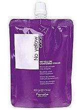 Düfte, Parfümerie und Kosmetik Aufhellende Haarcreme gegen Gelbstich mit Heidelbeerextrakt - Fanola No Yellow Violet Bleaching Cream