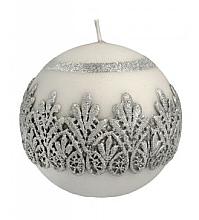 Düfte, Parfümerie und Kosmetik Dekorative Kerze in Kugelform grau 10 cm - Artman Koronka Lace Christmas