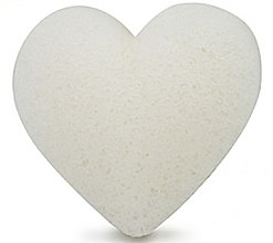 Düfte, Parfümerie und Kosmetik Konjac-Schwamm für das Gesicht in Herzform pur - Bebevisa Pure Konjac Sponge Heart