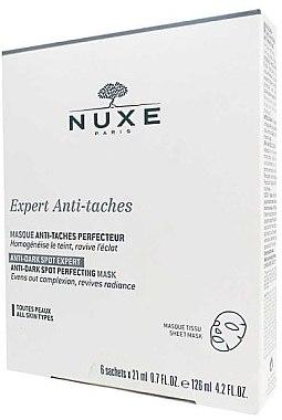 Tuchmaske gegen dunkle Flecken mit Vitamin C - Nuxe Expert Anti-Taches Mask — Bild N1