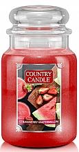 Düfte, Parfümerie und Kosmetik Duftkerze im Glas Strawberry Watermelon - Country Candle Strawberry Watermelon