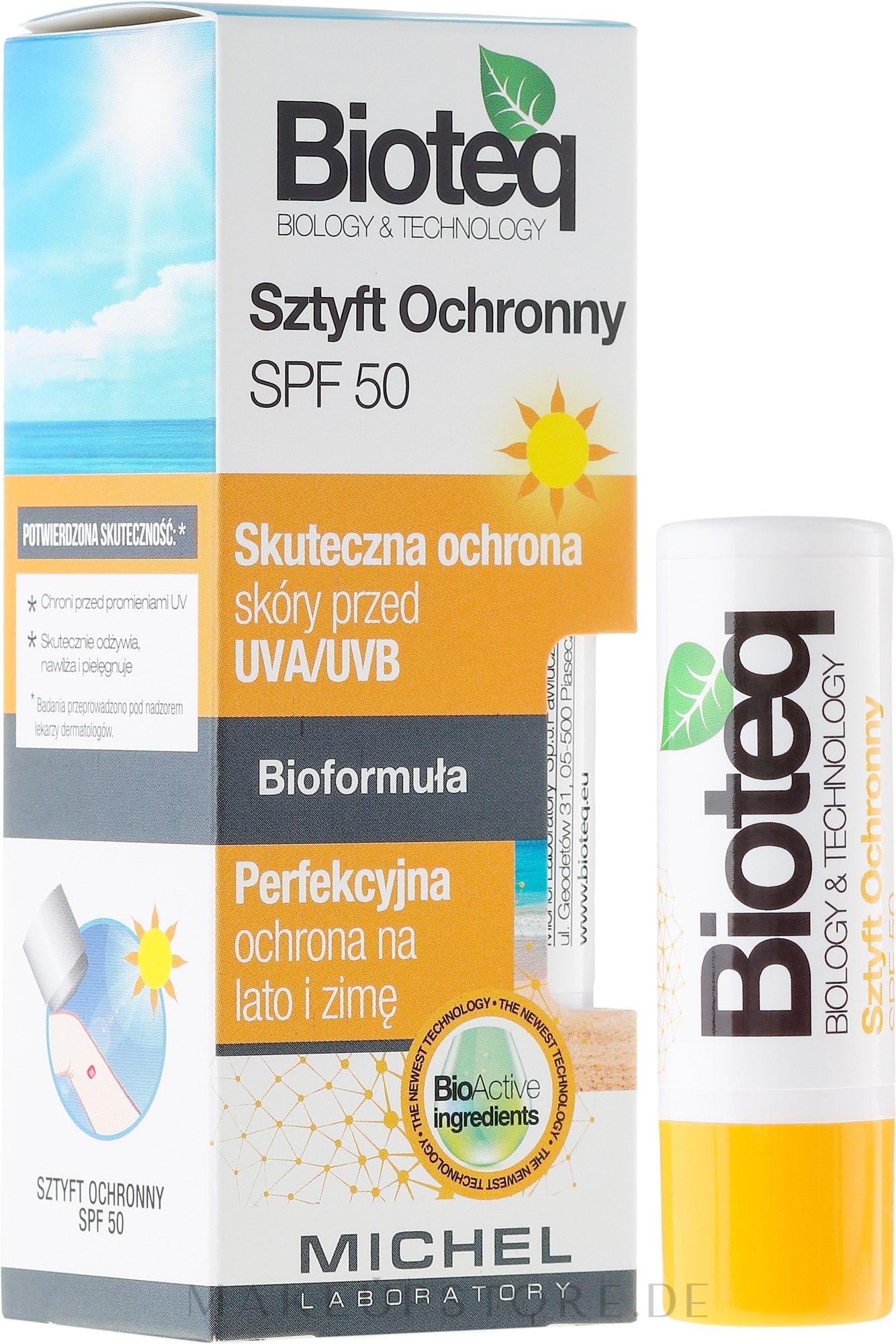 Lippenbalsam SPF 50 - Bioteq Lip Balm Sun Protector SPF 50 — Bild 4.6 g