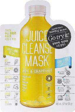 Reinigende Gesichtsmaske mit Grünkohl und Grapefruit - Ariul Juice Cleanse Mask Kale & Grapefruit — Bild N1