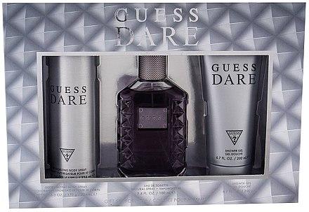 Guess Dare Men - Duftset (Eau de Toilette 100ml + Deodorant 226ml +Duschgel 200ml) — Bild N1