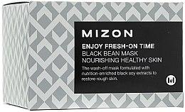 Pflegende Gesichtsmaske mit schwarzen Bohnen - Mizon Enjoy Fresh On-Time Black Bean Mask — Bild N1