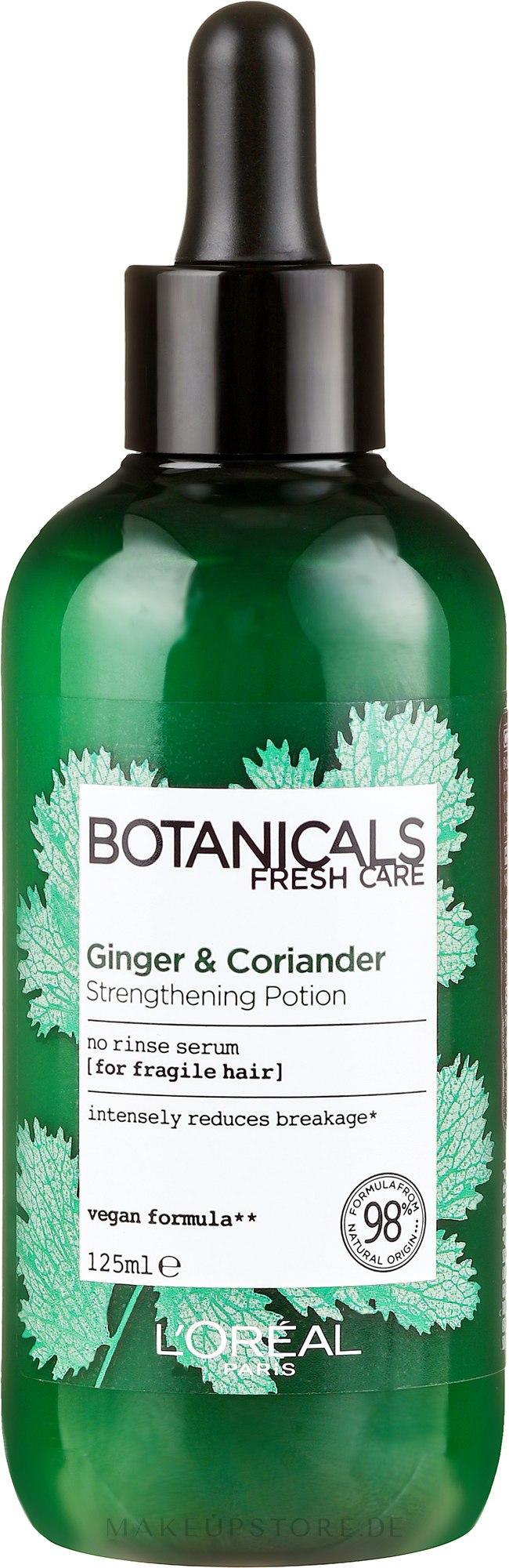 Pflegendes Elixier für geschwächtes Haar ohne Ausspülen - L'oreal Paris Botanicals Fresh Care Coriander Strength Cure — Bild 125 ml