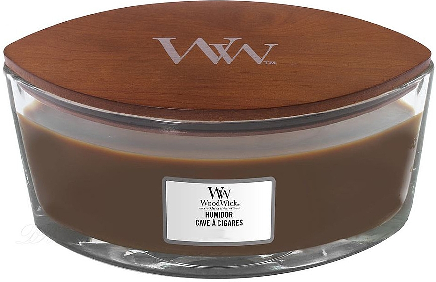 Duftkerze im Glas Humidor - WoodWick Humidor Ellipse Scented Candle — Bild N1