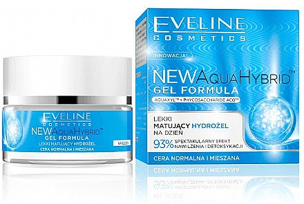 Mattierende Tagescreme-Gel - Eveline Cosmetics Aqua Hybrid Gel Formula — Bild N1