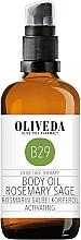 Düfte, Parfümerie und Kosmetik Körperöl Rosmarin und Salbei - Oliveda Body Oil Rosemary Salbei Activating