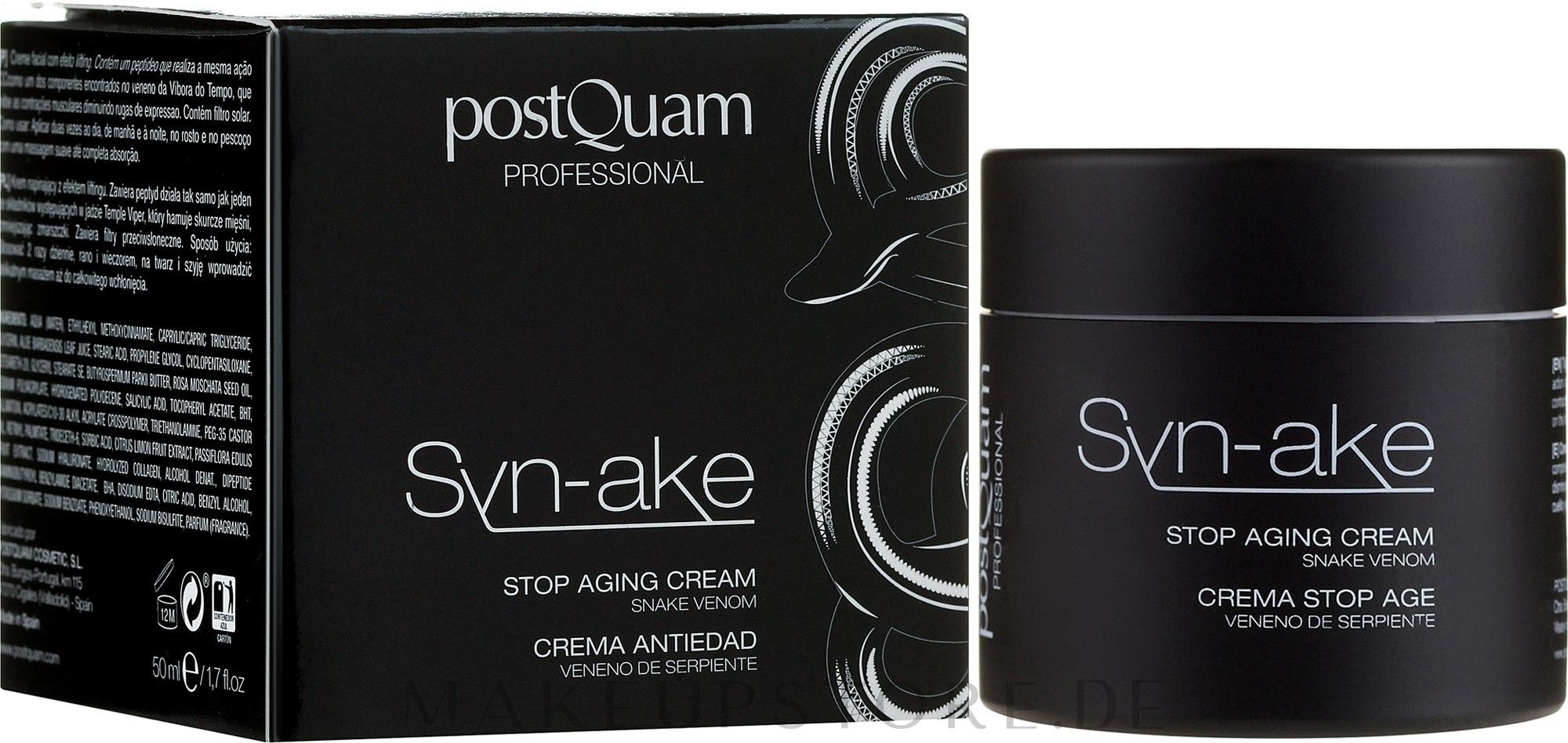 Anti-Aging Gesichtscreme - Postquam Syn-ake Stop Aging Cream — Bild 50 ml