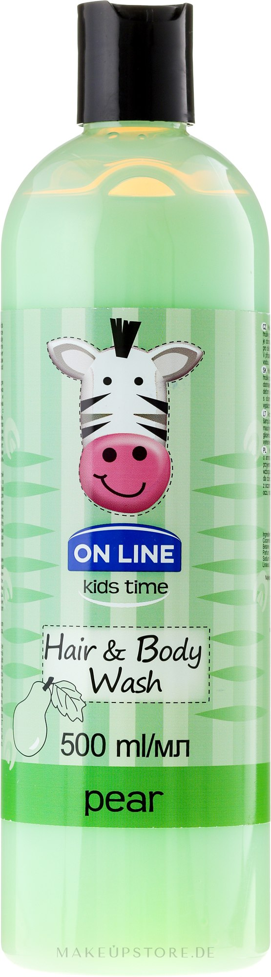 "On Line Kids Time Hair & Body Wash Pear - Shampoo & Duschgel für Kinder ""Birne"" — Bild 500 ml"