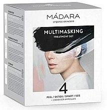 Düfte, Parfümerie und Kosmetik Gesichtspflegeset - Madara Cosmetics Multimasking Treatment Set (Gesichtsmaske 12,5ml x4 + Gesichtsampulle 3ml x2)