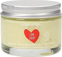 Düfte, Parfümerie und Kosmetik Nährende Gesichtscreme mit Avocado- und Rosenextrakt - Uoga Uoga Love Story
