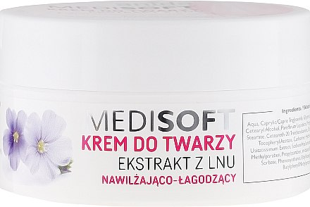 Feuchtigkeitsspendende Gesichtscreme mit Flachs-Extrakt - Anida Pharmacy Medisoft Face Cream Linen — Bild N1