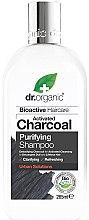 Düfte, Parfümerie und Kosmetik Erfrischendes Shampoo mit Aktivkohle, Bio-Ölen und Fruchtextrakten - Dr. Organic Bioactive Haircare Activated Charcoal Purifying Shampoo