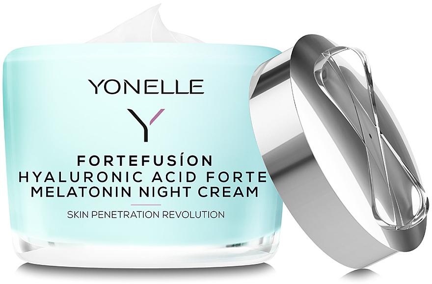 Nachtcreme mit Melatonin und Hyaluronsäure - Yonelle Fortefusion Hyaluronic Acid Forte Melatonin Night Cream — Bild N2