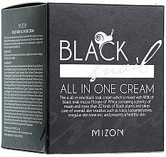 Feuchtigkeitsspendende, reparierende und porenverfeinernde Gesichtscreme mit schwarzem Schneckenfiltrat - Mizon Black Snail All In One Cream  — Bild N2
