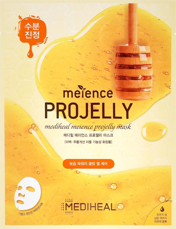 Tuchmaske für das Gesicht mit Propolis-Extrakt - Mediheal Meience Projelly Mask — Bild N1