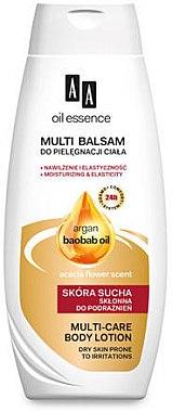 Feuchtigkeitsspendende Körperlotion mit Argan und Baobaböl für trockene Haut - AA Oil Essence Argan and Baobab Oil Body Lotion — Bild N1