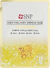 Düfte, Parfümerie und Kosmetik Gesichtsmaske mit Gold und Kollagen - SNP Gold Collagen Ampoule Mask