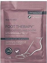 Düfte, Parfümerie und Kosmetik Anti-Aging Fußsocken mit Meereskollagen, Sheabutter und Pfefferminze - BeautyPro Foot Therapy Collagen Infused Bootie