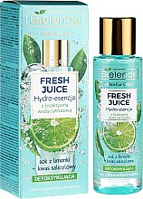 Düfte, Parfümerie und Kosmetik Entgiftende Gesichtsessenz mit Limette - Bielenda Fresh Juice Detoxifying Face Hydro Essence Lime
