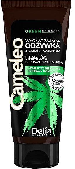 Glättender Conditioner mit Hanföl - Delia Cosmetics Cameleo Green Conditioner — Bild N1