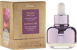 Düfte, Parfümerie und Kosmetik Anti-Aging Gesichtselixier mit Safran - Korres Golden Krocus Ageless Eye Elixir