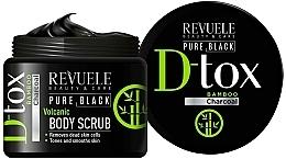Düfte, Parfümerie und Kosmetik Regenerierendes Körperpeeling mit Bambuskohle und Aloe Vera - Revuele Pure Black Detox Volcanic Body Scrub