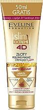 Düfte, Parfümerie und Kosmetik Goldende Peeling-Massage gegen Cellulite - Eveline Cosmetics Slim Extreme 4D Gold Draining Peeling-Massage