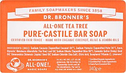 Düfte, Parfümerie und Kosmetik Seife Teebaum - Dr. Bronner's Pure Castile Bar Soap Tea Tree