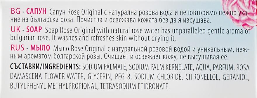 Parfümierte Körperseife - Bulgarian Rose Rose Original Soap — Bild N3