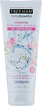 Düfte, Parfümerie und Kosmetik Feuchtigkeitsspendende Gel-Crememaske für das Gesicht mit Gletscherwasser und rosa Pfingstrose - Freeman Feeling Beautiful Gel Cream Mask