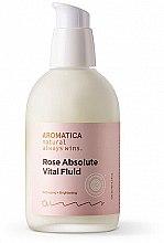 Düfte, Parfümerie und Kosmetik Anti-Aging Gesichtsfluid mit bulgarischem Damaszener Rosenöl - Aromatica Rose Absolute Vital Fluid