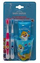 Düfte, Parfümerie und Kosmetik Zahnpflegeset für Kinder - Pinkfong Baby Shark (Zahnpasta 75ml + Zahnbürste 2St. + Zahnbecher)