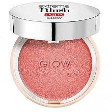 Düfte, Parfümerie und Kosmetik Gesichtsrouge mit glänzenden Pigmenten - Pupa Extreme Blush Glow