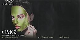Düfte, Parfümerie und Kosmetik Reinigende Gesichtsmaske in 3 Schritten - Double Dare OMG! Platinum Green Facial Mask