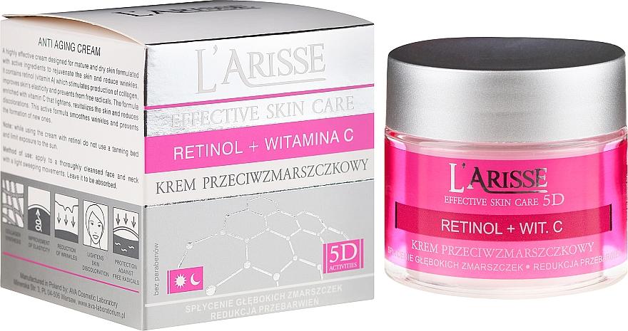 Anti-Aging Gesichtscreme mit Retinol und Vitamin C 50+ - Ava Laboratorium L'Arisse 5D Anti-Wrinkle Cream Retinol + Vitamin C — Bild N1