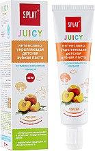 Düfte, Parfümerie und Kosmetik Intensiv stärkende Kinderzahnpasta mit Pfirsichgeschmack - SPLAT Juicy