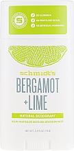 Düfte, Parfümerie und Kosmetik Natürlicher Deostick - Schmidt's Naturals Deodorant Bergamot Lime Stick